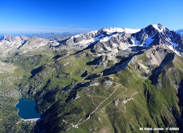 Photo aérienne du parc naturelle de la vanoise